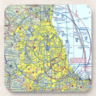 6 Chicago Airspace Coasters