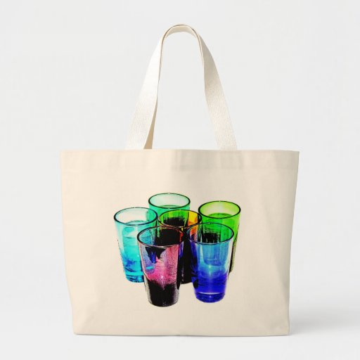 6 Coloured Cocktail Shot Glasses -Style 14 Bags
