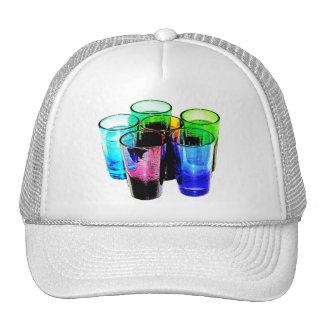 6 Coloured Cocktail Shot Glasses -Style 14 Trucker Hat