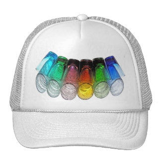 6 Coloured Cocktail Shot Glasses -Style 15 Trucker Hat
