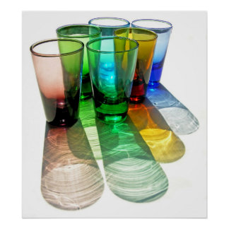 6 Coloured Cocktail Shot Glasses -Style 18 Poster
