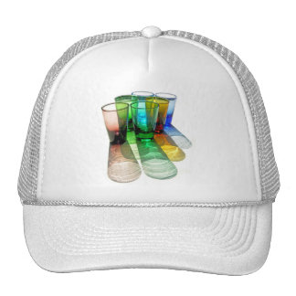 6 Coloured Cocktail Shot Glasses -Style 18 Trucker Hat