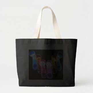 6 Coloured Cocktail Shot Glasses -Style 2 Canvas Bags