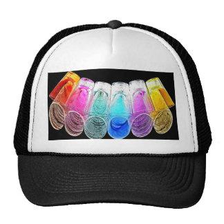 6 Coloured Cocktail Shot Glasses -Style 4 Trucker Hat