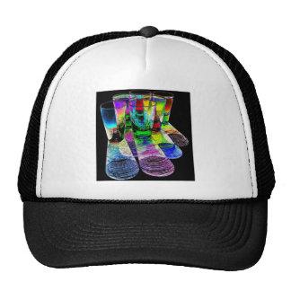 6 Coloured Cocktail Shot Glasses -Style 6 Trucker Hat