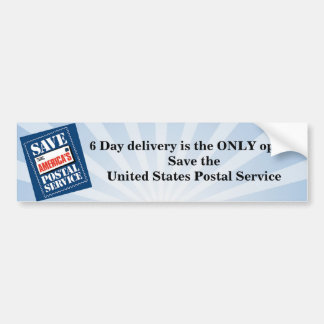 6 day delivery car bumper sticker