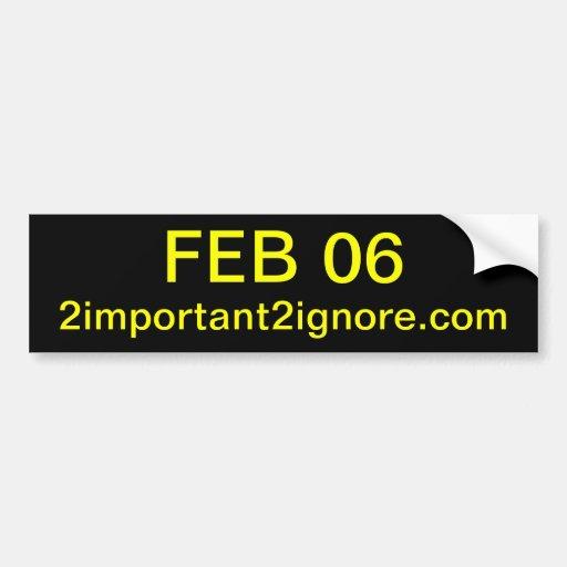 6 de febrero pegatina para el parachoques pegatina de parachoque