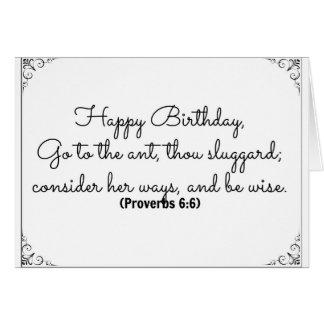6 de junio tarjeta de cumpleaños de la biblia con