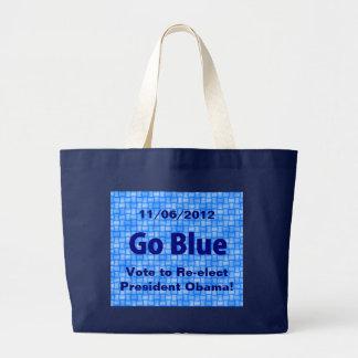 6 de noviembre de 2012 - va el azul, voto para ree bolsa de mano