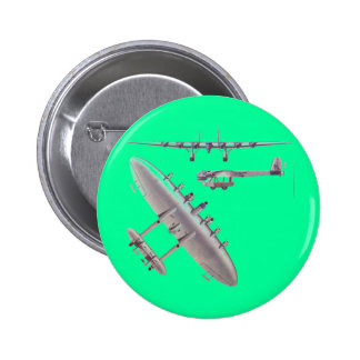 6 Engine Commuter Aircraft Pinback Button