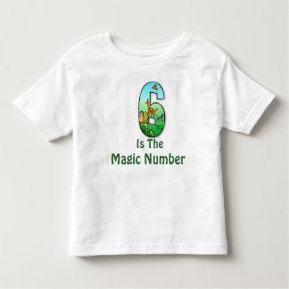 6 es la camiseta de los niños del número mágico remera