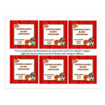 6 Favor Tags All-Star Red Postcards