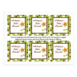 6 Favor Tags Forest Friends Flower Post Cards