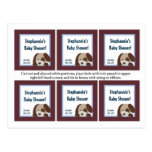 6 Favor Tags Lil League Puppy Dog Sports Postcard