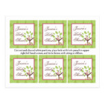 6 Favor Tags Love and Nature Girl Woodland Owl Postcard
