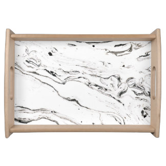 6 feet under marble serving tray