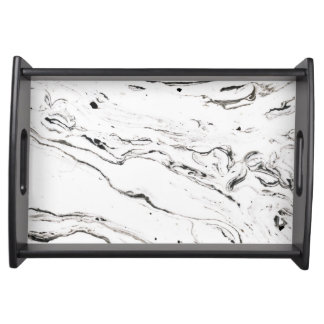 6 feet under marble serving tray black