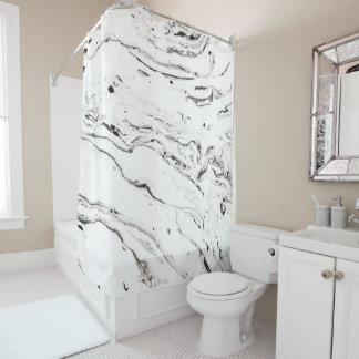 6 feet under marble shower curtain
