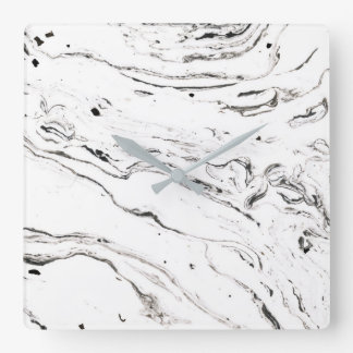 6 feet under marble square gray wall clock