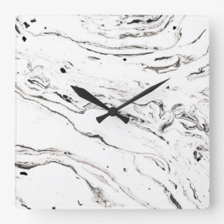6 feet under marble square wall clock