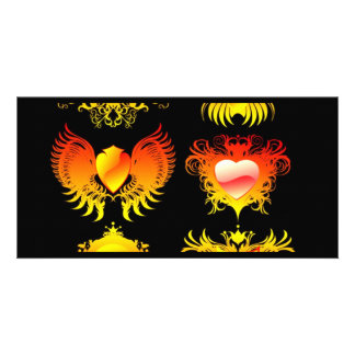 6-fire-flames-banners photo card