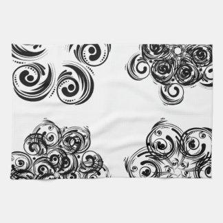 6 florales decorativos toallas de cocina