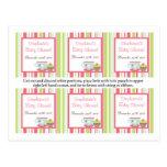 6 flores del pastel del rosa de la fiesta del té d tarjetas postales