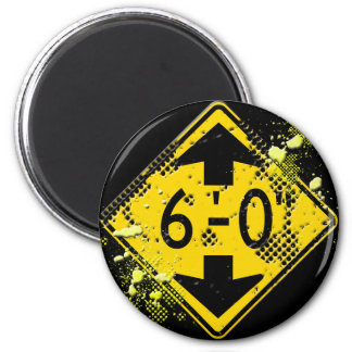 6 FT CLEARANCE ROAD SIGN 2 INCH ROUND MAGNET