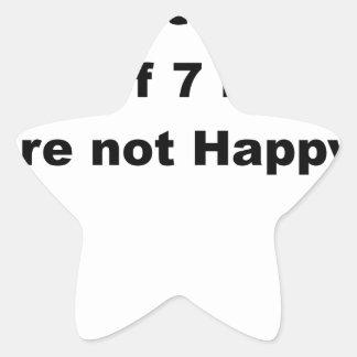 6 fuera de 7 enanos no son estadístico happy.png pegatina en forma de estrella
