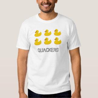 6 Funny Yellow Rubber Ducky QUACKERS Duck T-Shirt