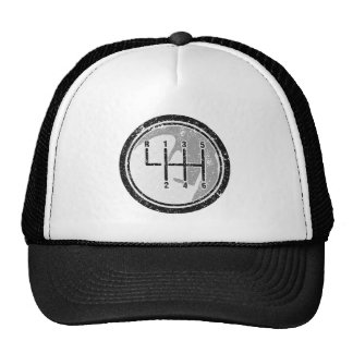 6 Gear Shift Knob Mesh Hat