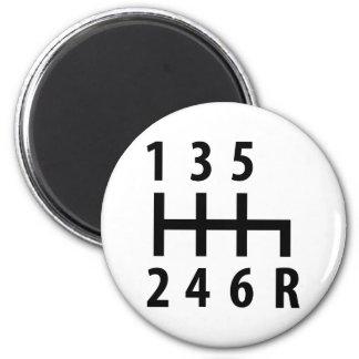 6 gearshift race car black refrigerator magnets