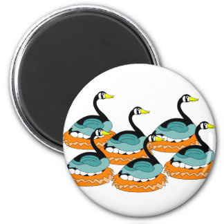 6 Geese A Laying 2 Inch Round Magnet