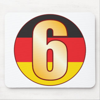 6 GERMANY Gold Mouse Pad