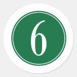 #6 Green Circle Round Sticker