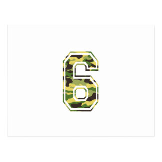 #6 Green & Yellow Camo Postcard