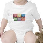 6 Hearts Baby Bodysuit