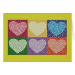 6 Hearts Greeting Card