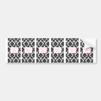 6 Hershey s Miniature Label Hot Pink Black Damask Bumper Stickers