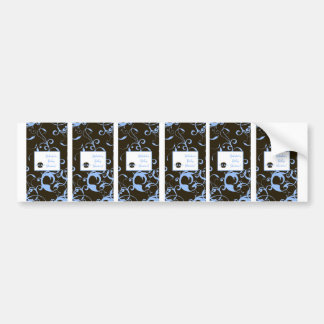 6 Hershey's Miniature Labels Boy Blue Punk Skull