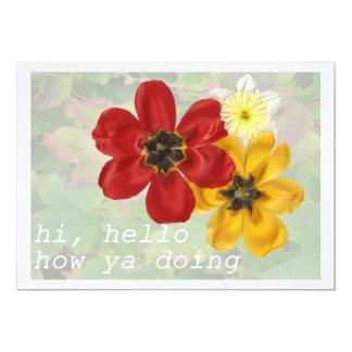6 High Hello How ya doing Card
