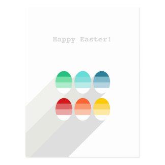 6 huevos rayados tarjetas postales