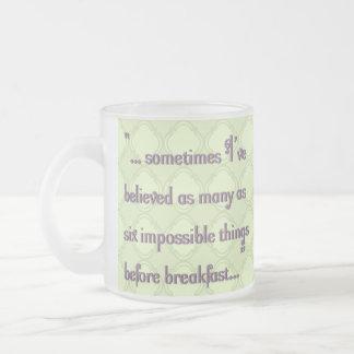6 Impossible Things Before Breakfast Mug