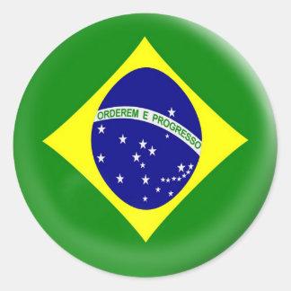 6 large stickers Brasil Brazilian flag