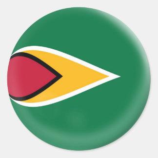 6 large stickers Guyana flag