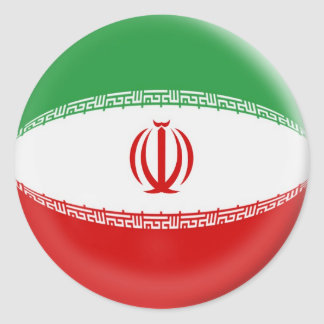6 large stickers Iran flag