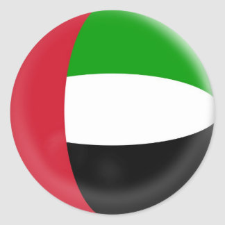 6 large stickers United Arab Emirates flag