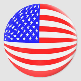 6 large stickers USA American flag