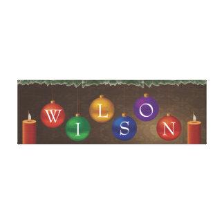 6 letter last name Christmas wall art