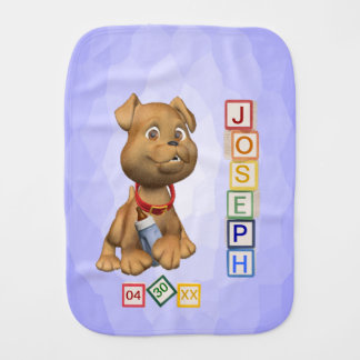 6 Letter Name Version Baby Burp Cloth Customizable